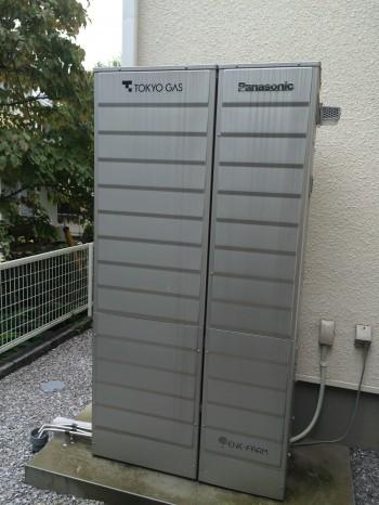 일본 교토대 마츠시타 가즈오 명예교수의 집에 설치된 가정용 연료전지 에너팜. - 마츠시타 가즈오 제공